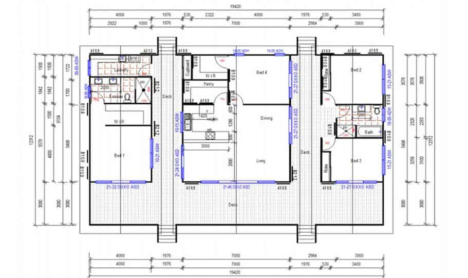 Sloping Land Kit Home Design 222 02