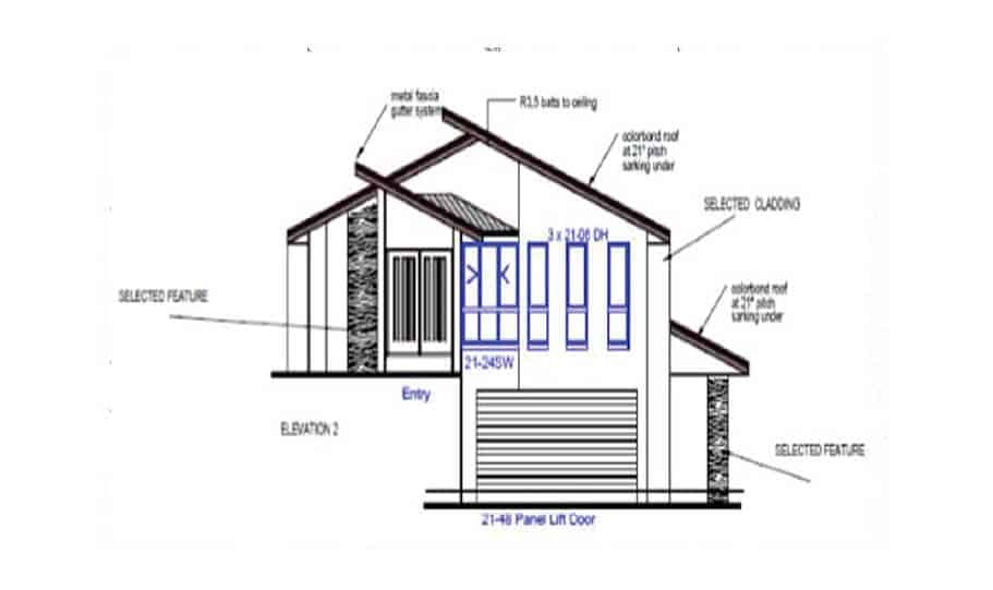 Sloping Land Kit Home Design 257 06