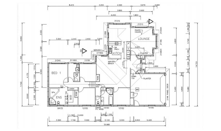 Sloping Land Kit Home Design 268 02