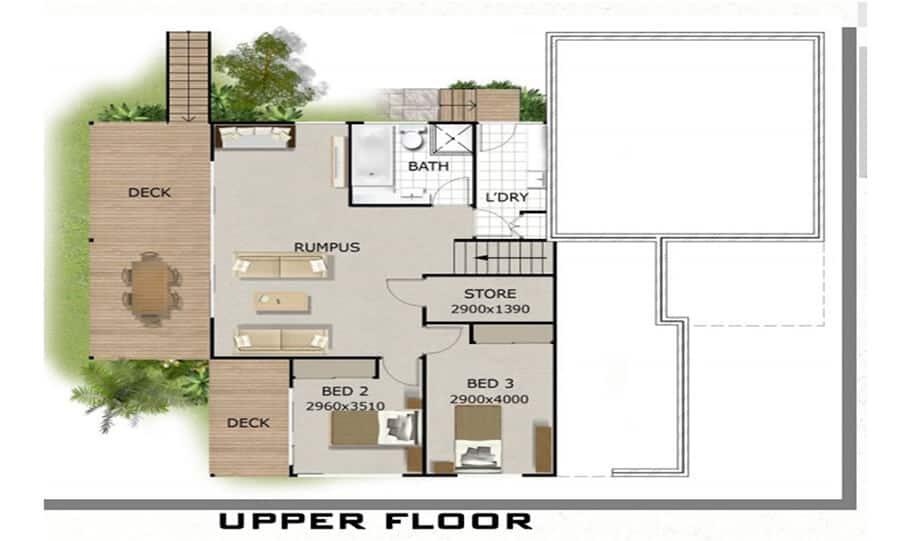 Sloping Land Kit Home Design 279 01