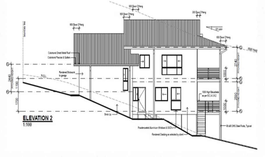 Sloping Land Kit Home Design 279 09