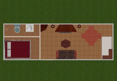 Spark Dwight 1 Bedroom 3x9 8