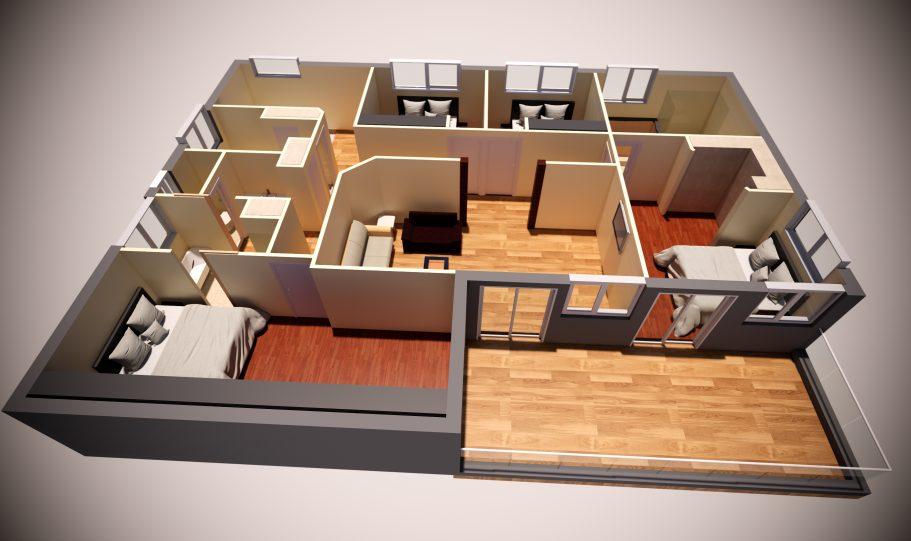 Two Storey Kit Home – Plan Lh D