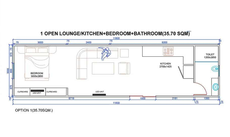 one king 40 foot container home 03