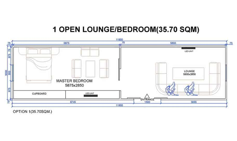 one king 40 foot transportable home 04