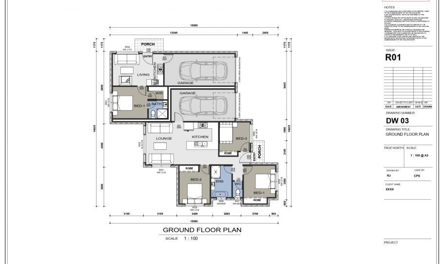 Duplex Design Home Plan Duk