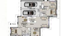 Duplex Kit Home Plan Duk M Bed Bath